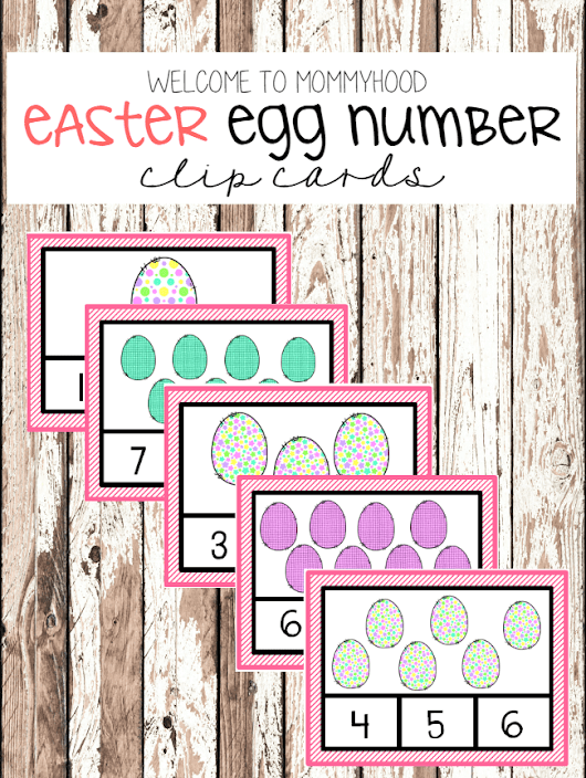 Easter Number Clip Cards