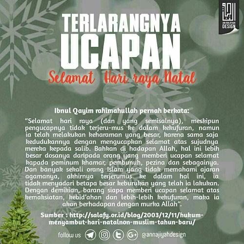 Poster Hukum Mengucapkan Selamat Natal