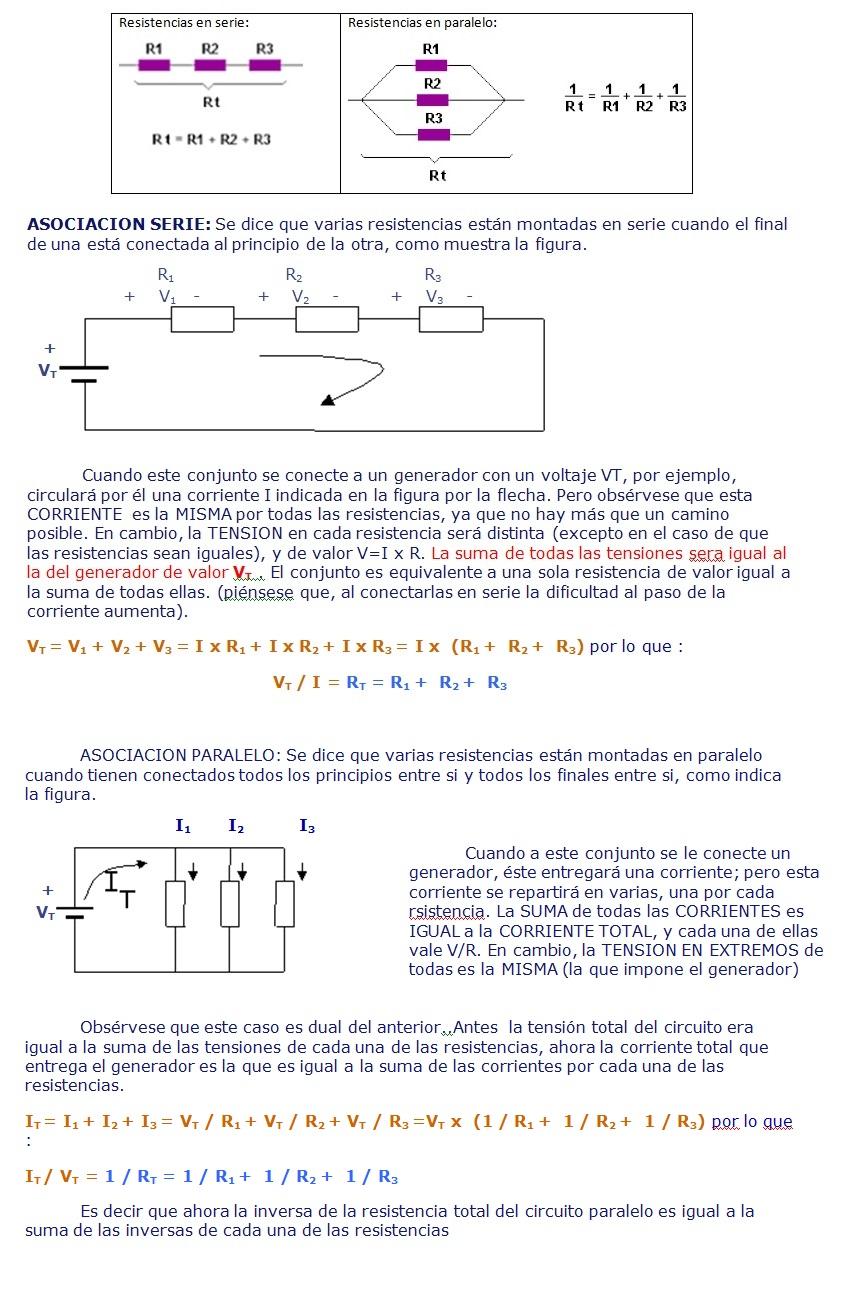 Circuito Paralelo : Clase circuitos en serie y paralelo informática quinto