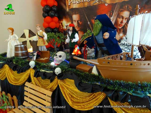 Tema Piratas do Caribe - Decoração de festa de aniversário infantil
