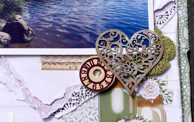 Bala Scrapbook Page by Katherine Sutton using BoBunny Garden Party