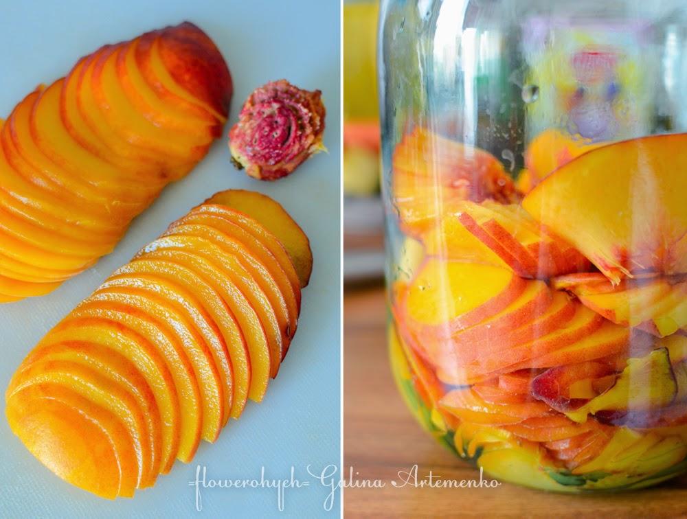 приготовление ликера из персиков
