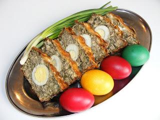 Drob si oua rosii aperitiv pentru Pasti reteta,
