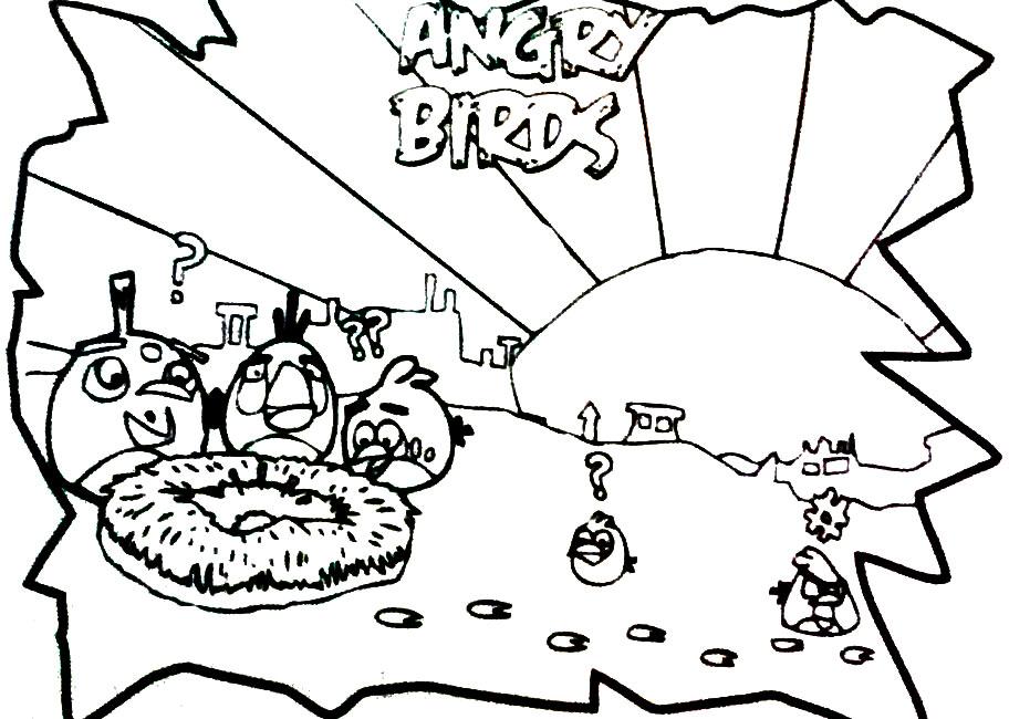 Blog MegaDiverso: Imprimir Y Pintar A Angry Birds