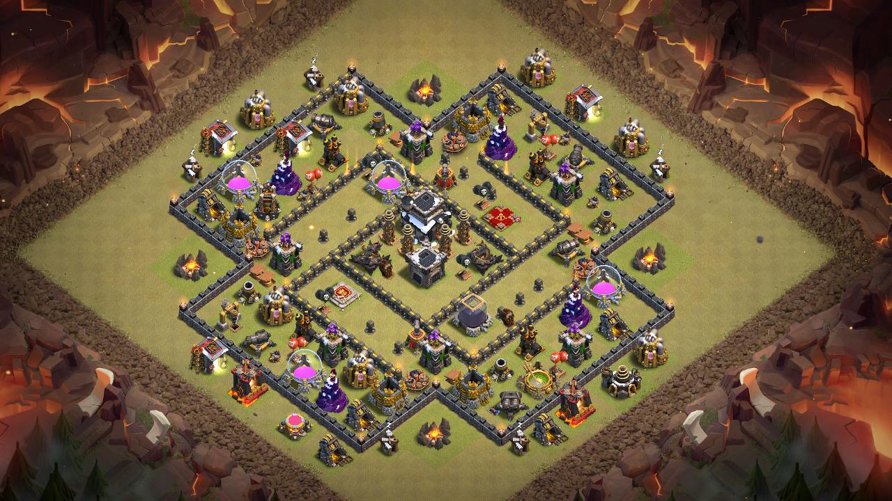 Base Coc Th 9 Anti Serangan Udara 9