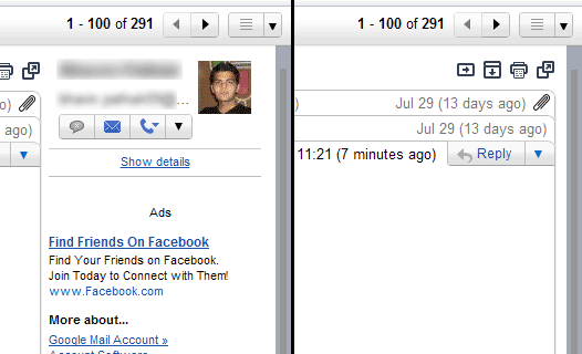 Gmail Preview Pane Extend