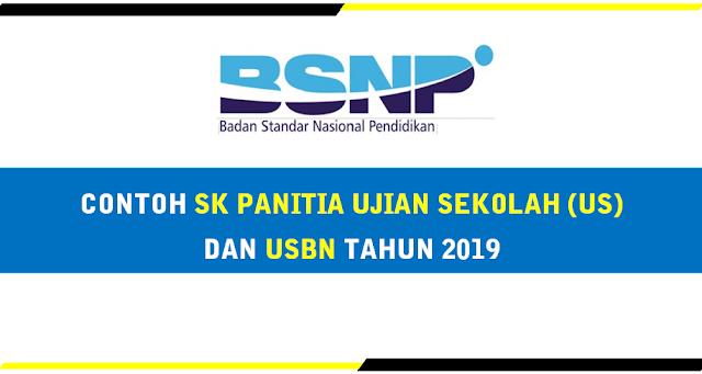 Contoh SK Panitia Ujian Sekolah SD USBN Tahun 2019