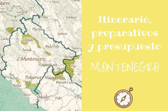 itinerario montenegro