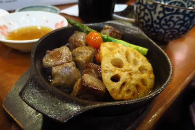 Keria Japanese Restaurant, beef cubes
