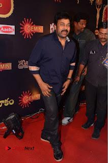 Chiranjeevi Stills at Gemini TV Puraskaralu Event