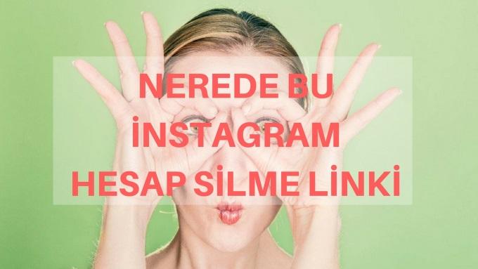 instagram hesap silme linki