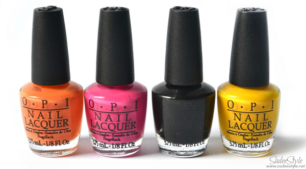 So So Skullicious Mini Nail Lacquers (Opi Pumpkin, Opi A rose from dead, Opi Mourning glory, Opi Candle light)