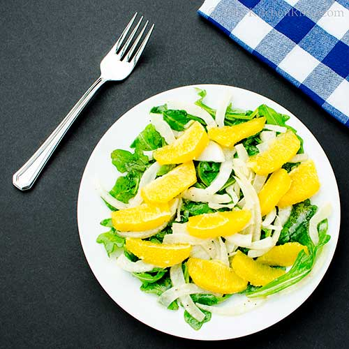Fennel, Orange, and Arugula Salad