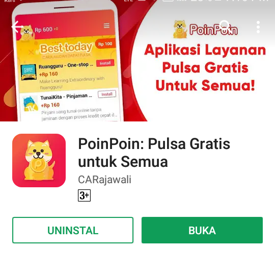 Poinpoin Aplikasi Penghasil Pulsa Gratis Terbaru Dan Terbaik Di
