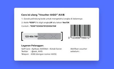Cara Memasukan Voucher AXIS AIGO