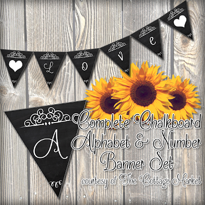 This chalkboard banner set is totally free and printable too.