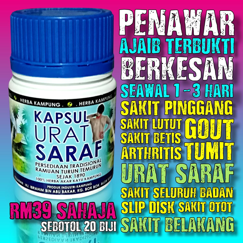 Kapsul Urat Saraf ( 100% Herba Akar Kayu Kampung