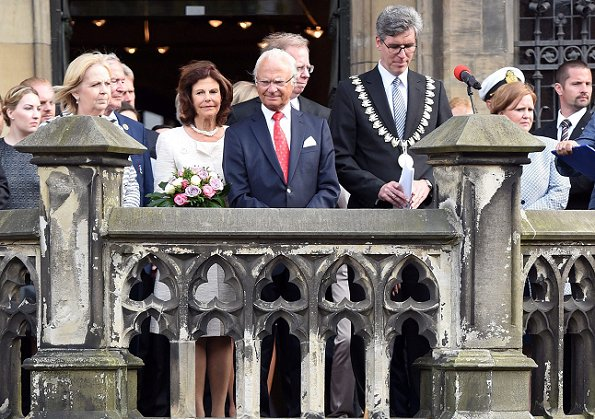 Queen Silvia and King Carl Gustaf attended World Equestrian Festival - CHIO Aachen 2016