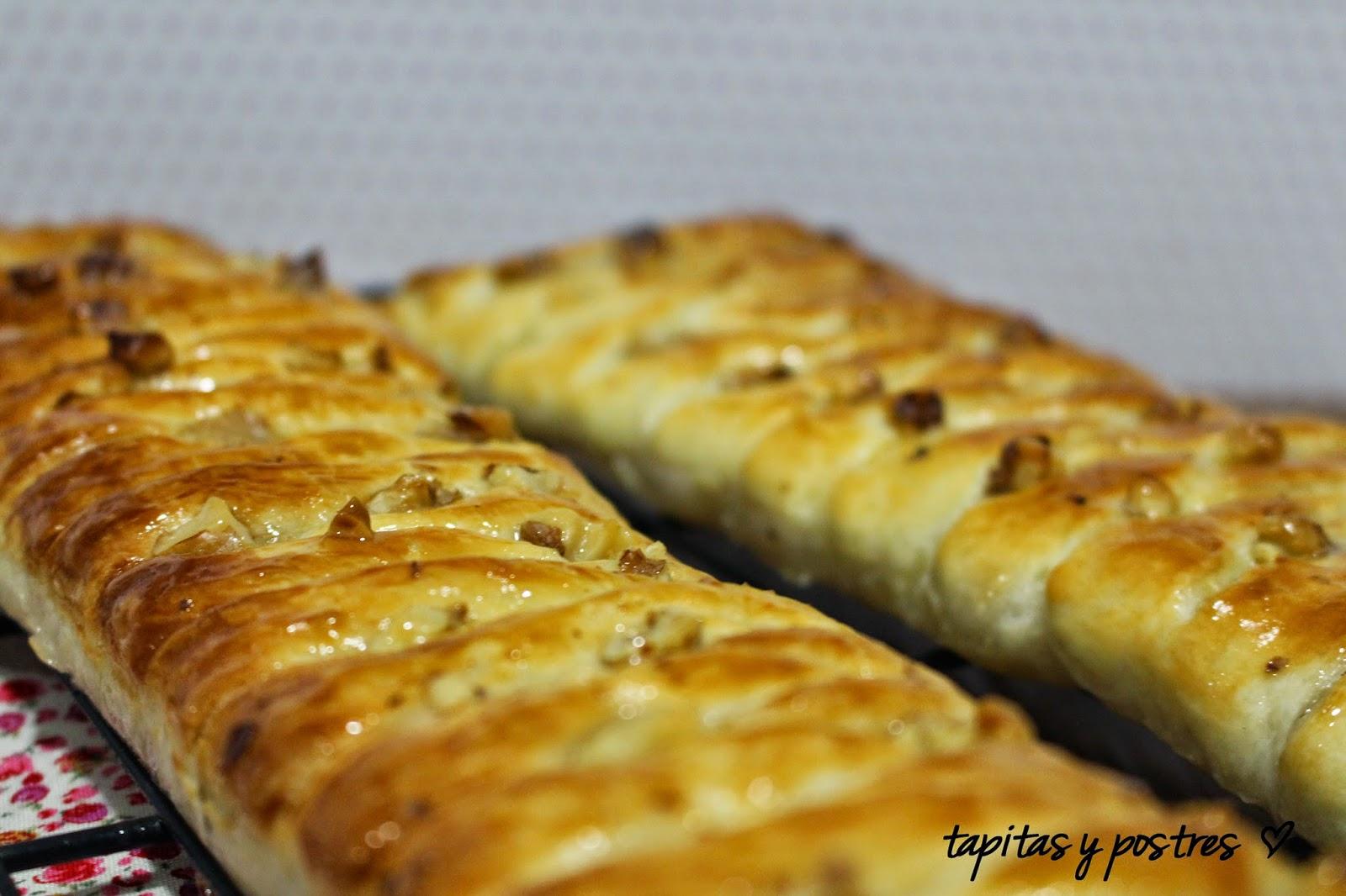 Tapitas y postres trenza de hojaldre con compota de manzana - Pure de castanas y manzana ...