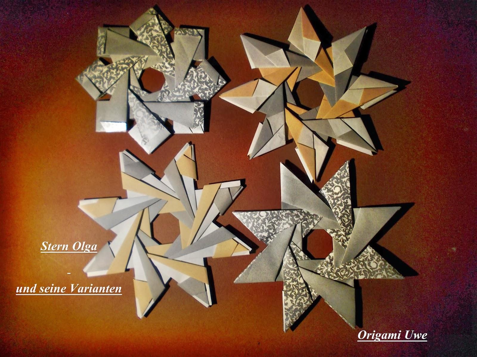 Gallerphot: Origami Stern Faltanleitung