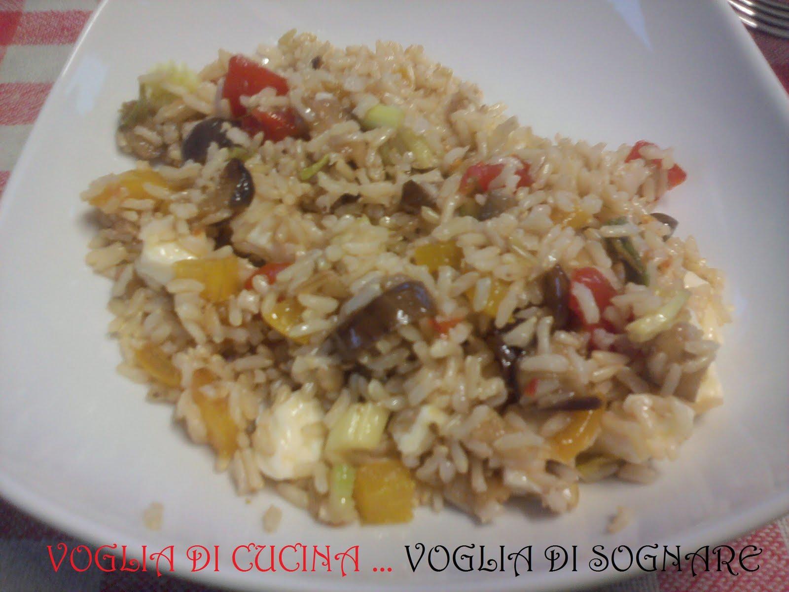 Voglia di cucina voglia di sognare riso freddo vegetariano for Cucinare vegetariano