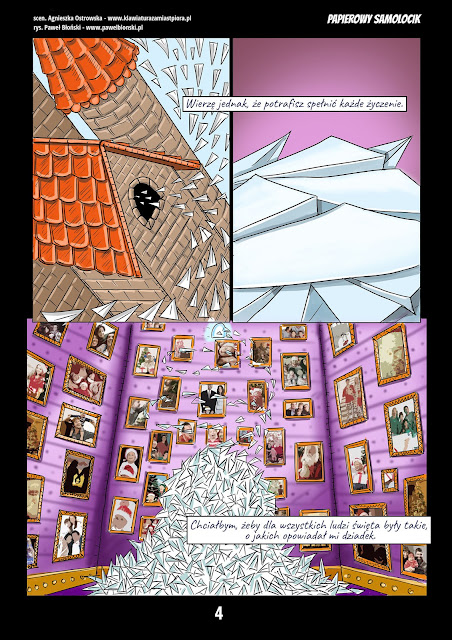 świąteczny komiks raklamowy strona czwarta