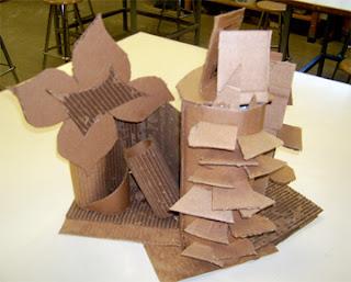 Corrugated Cardboard Sculpture Lesson   Art Lesson Plans