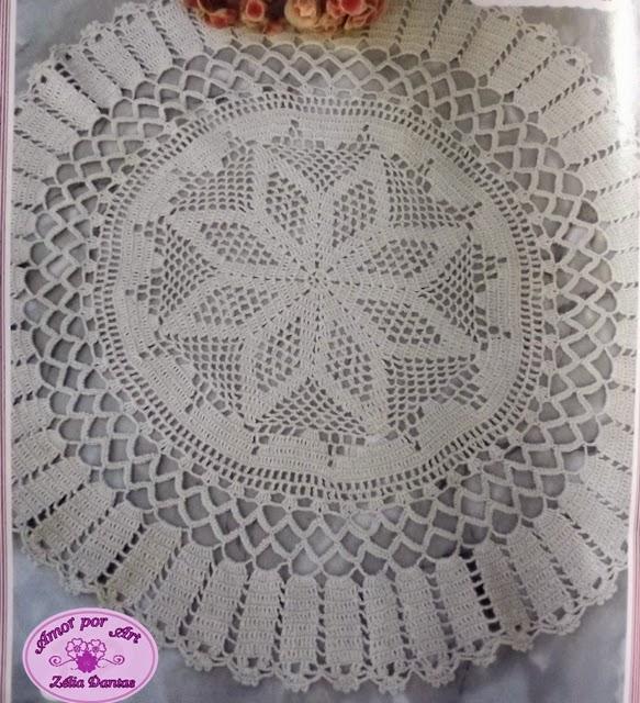 Tapete de Croche ou toalha de mesa de crochê com gráfico b2692c621de