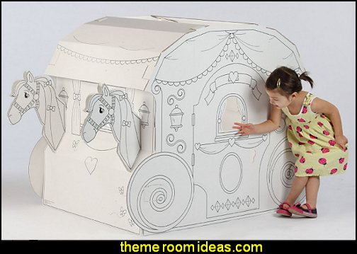 My Very Own House Coloring Playhouse- Princess Carriage