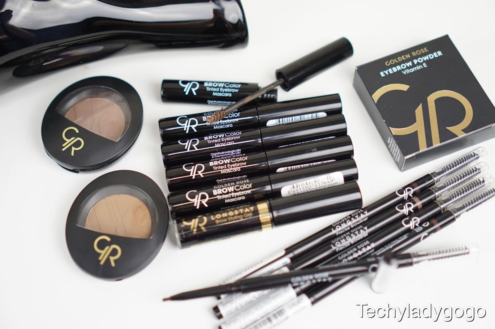 รีวิว ที่เขียนคิ้ว โกลเด้นโรส GR Golden Rose Cosmetics Eyebrow Products