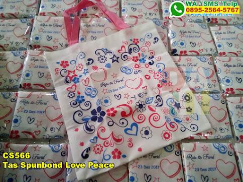 Toko Tas Spunbond Love Peace