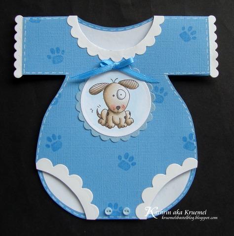 Stempeleinmaleins Baby Body Karte Onesie Card