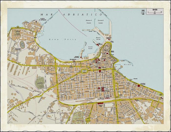 Plan de la ville de Bari