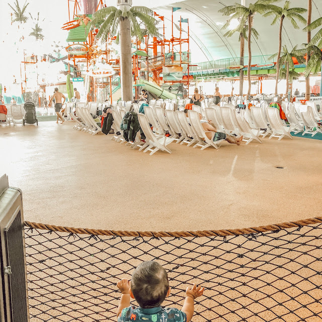 little boy at the fallsview water park