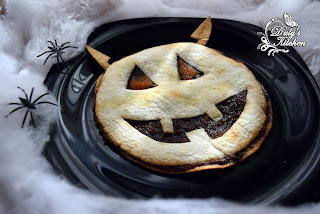 Tortitas Con Chocolate -diablo Halloween-