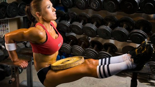 weighted bench dips triceps