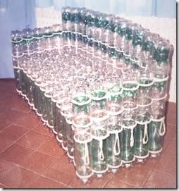 Как сделать пуфик из пластиковых бутылок
