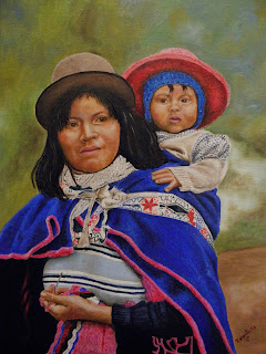 Madre Guambiana, Jorge Marín Pintor Colombiano