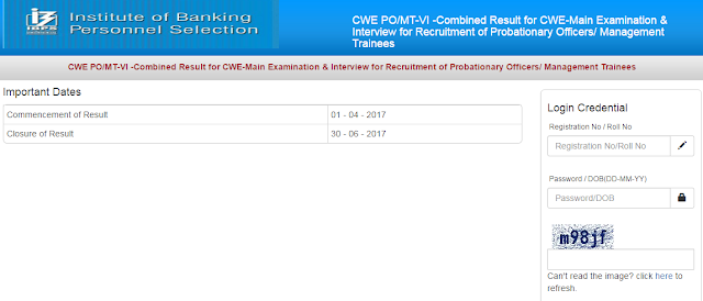 IBPS PO 2016 Final Result Declared - SSC Officer