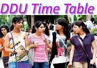 ddu time table 2018