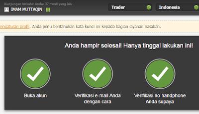 Cara daftar Fbs trader Lengkap hingga login ke aplikasi fbs trader4