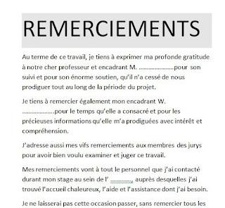 10 Exemples Remerciement Pfe Mémoire Ou Rapport De Stage