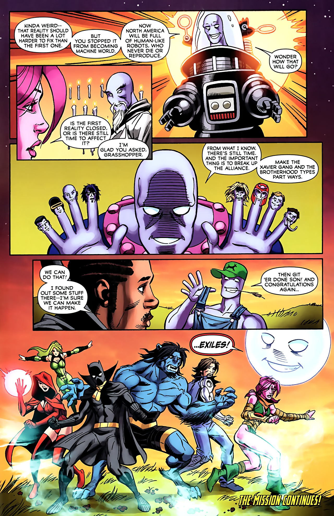 Read online Exiles (2009) comic -  Issue #5 - 25