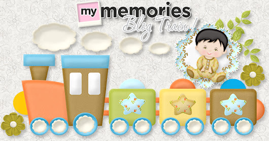 June Blog Train - Free Digital Scrapbookig Kits