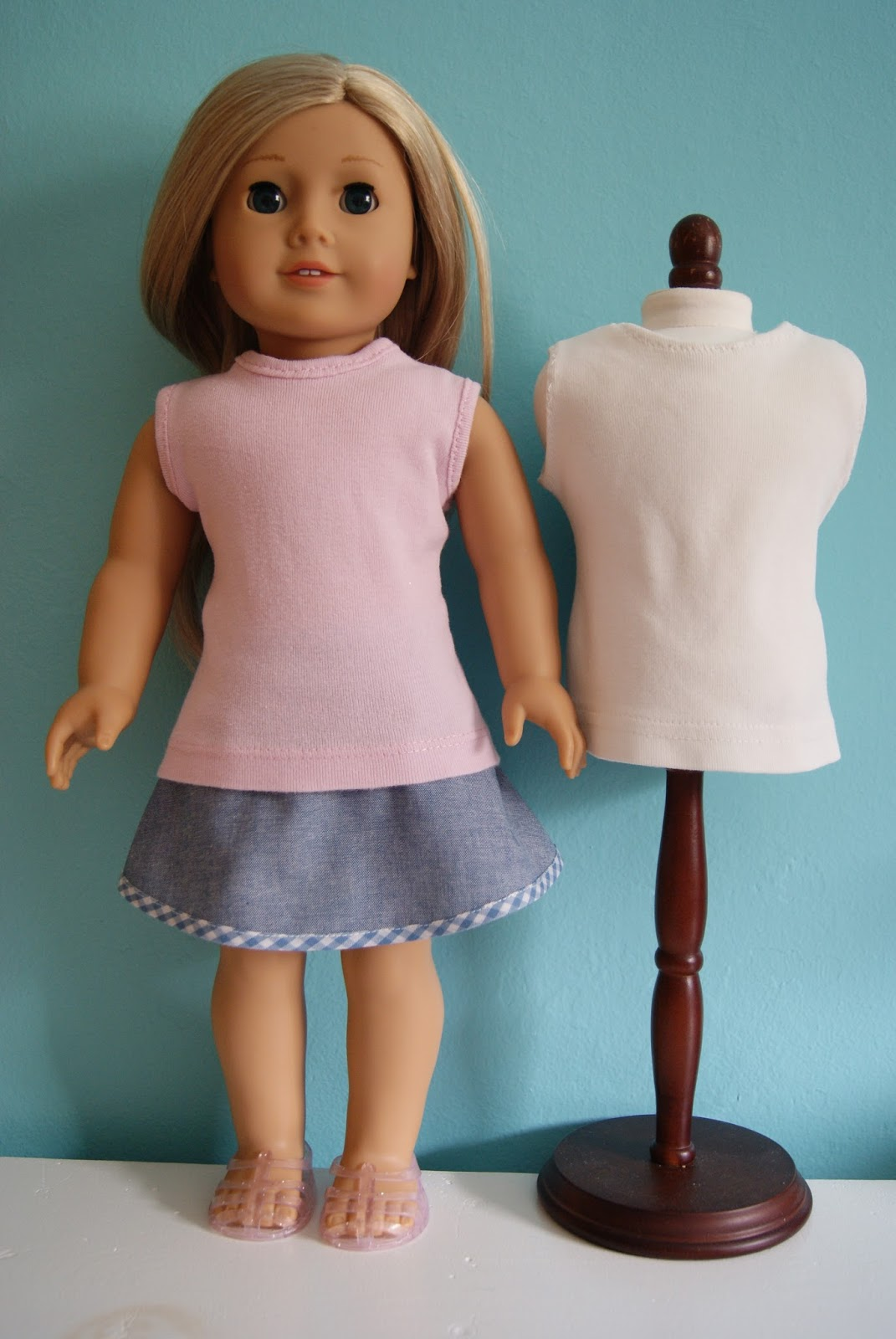 "refashion month-old girl t-shirts to 18"" doll tank tops"