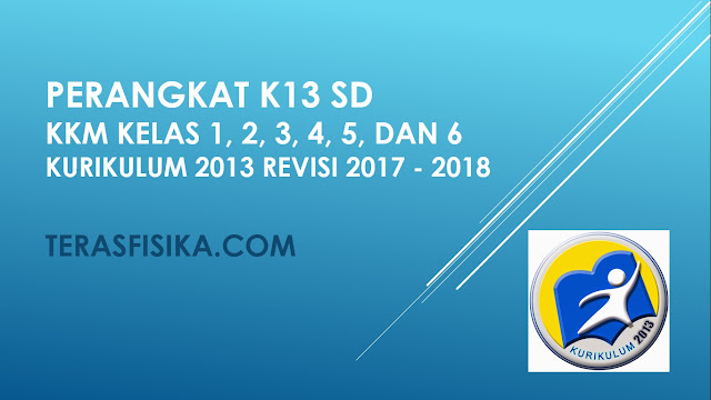 KKM SD/MI Kelas 1, 2, 3, 4, 5, dan 6 Kurikulum 2013 Revisi 2017 Lengkap