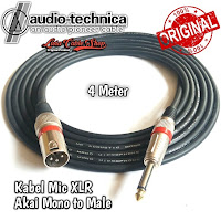 Kabel Mic Audio Akai mono To Male 4 Meter Canon Canare