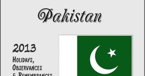 Pakistan's Holidays, Observances & Remembrances
