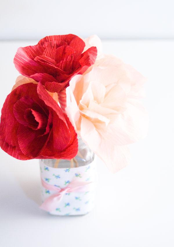 Dainty Crepe Paper Rose