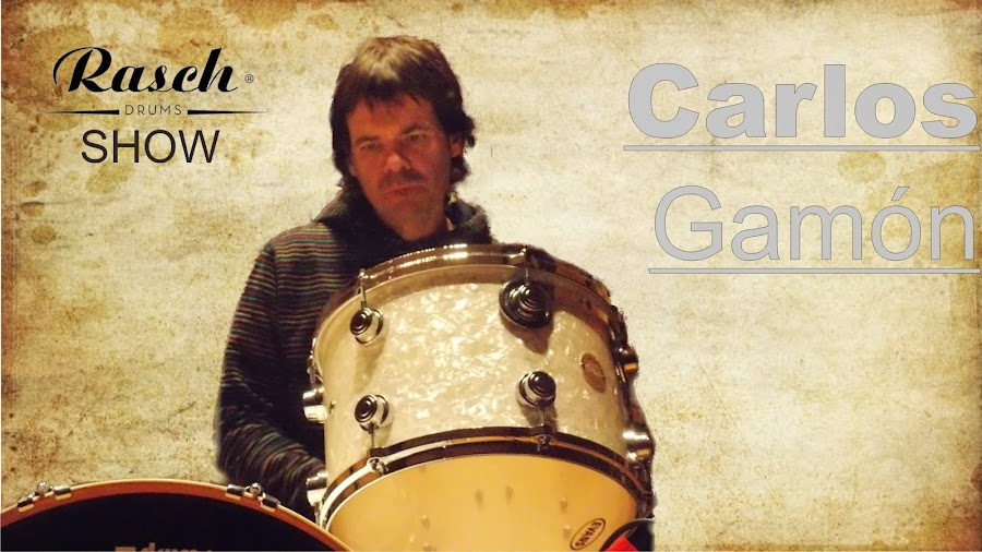 cartel carlos gamón en rasch drums show